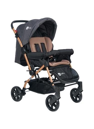 4 Baby 4 Baby Olympus Gold Çift Yönlü Bebek Arabası Kahverengi Gri